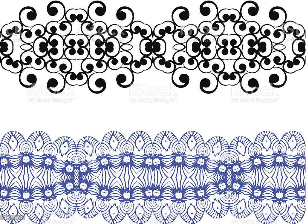 Set linear floral ornament royalty-free stock vector art
