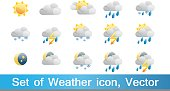 Set of 15 high quality vector weather icons