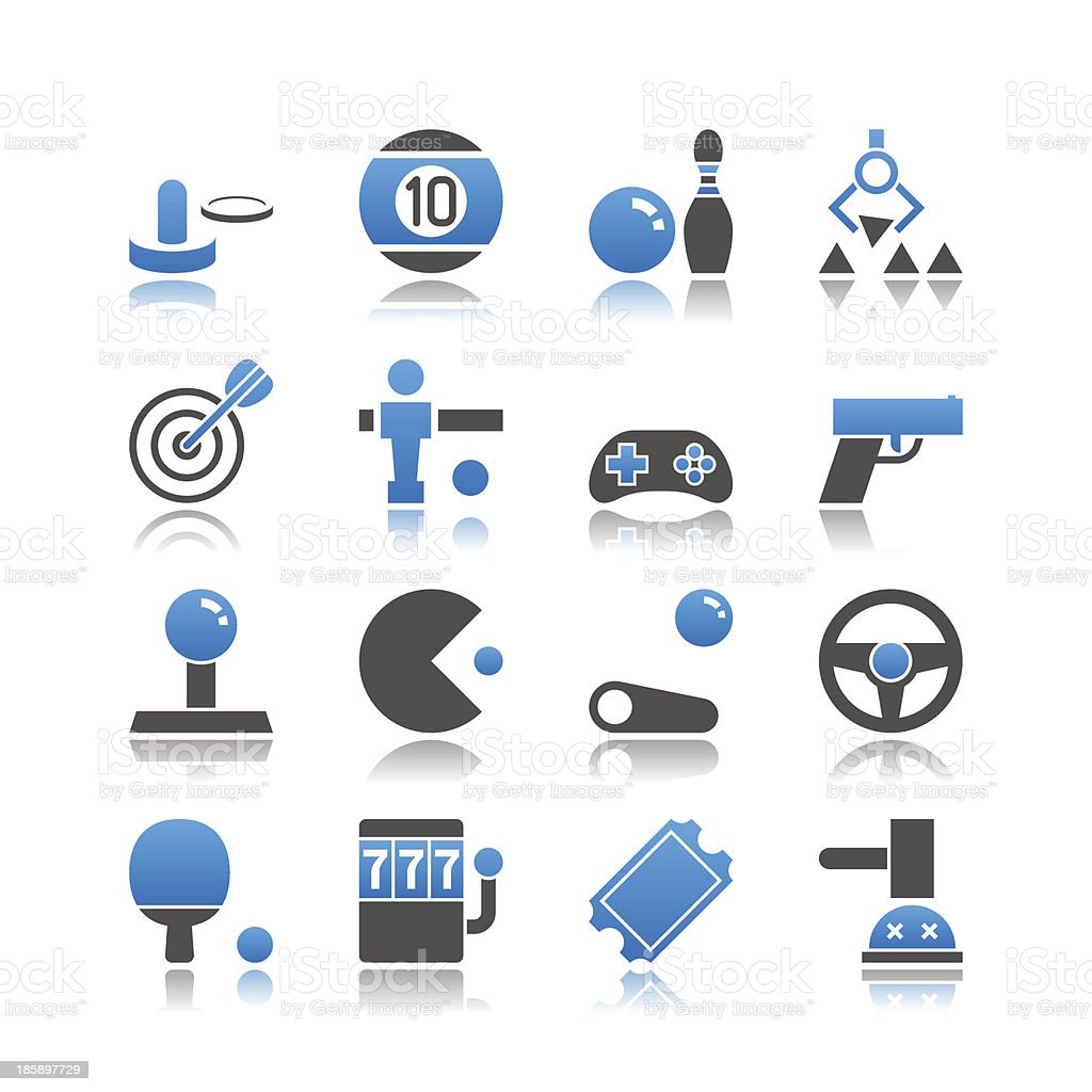 Set of 16 Arcade and Game simple vector icons vector art illustration