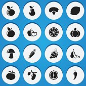 Set Of 16 Editable Cookware Icons