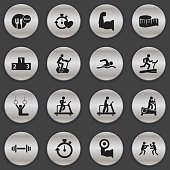 Set Of 16 Editable Sport Icons.