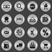 Set Of 16 Editable Trade Icons.