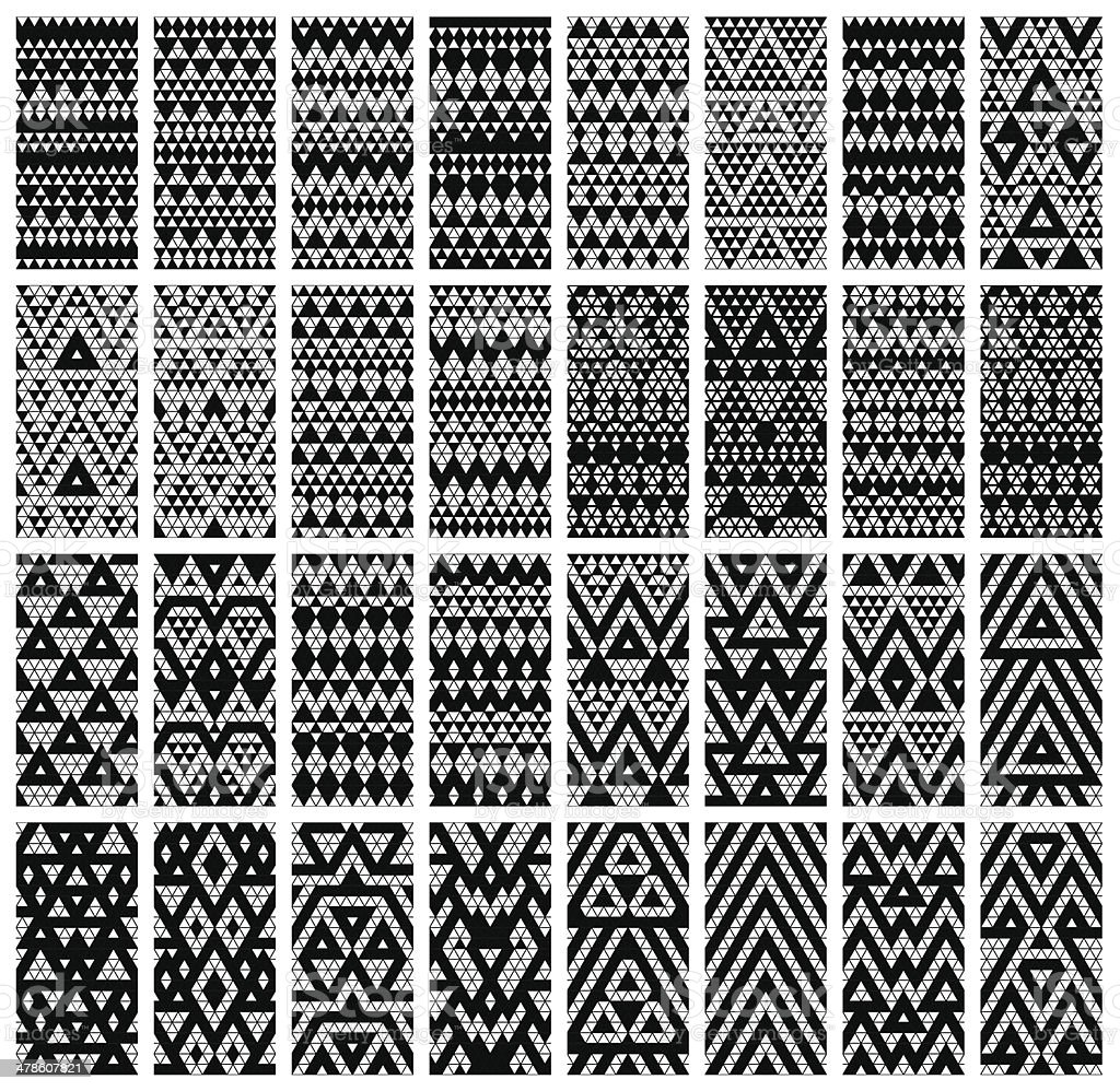 Set of 24 patterns. vector art illustration