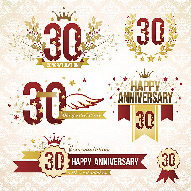 30 Year Anniversary Symbol Clip Art Vector Images Illustrations
