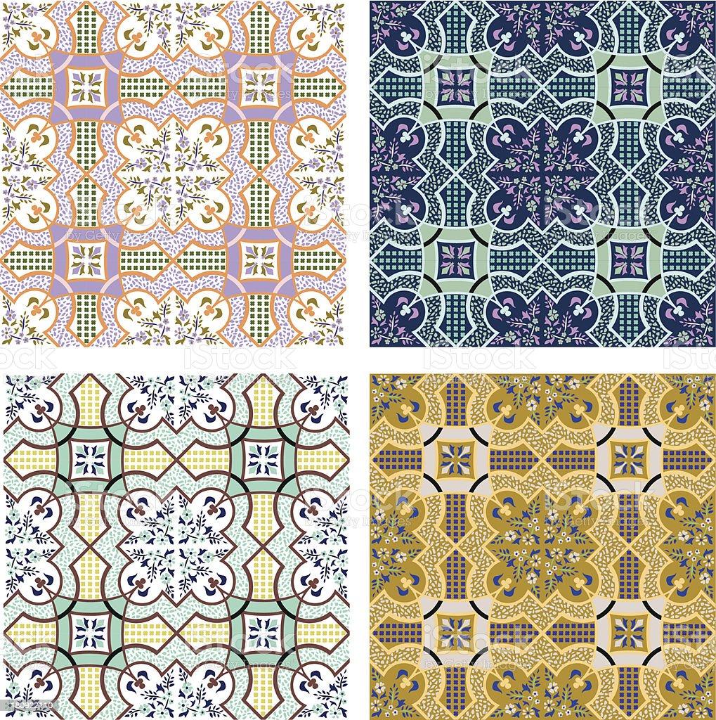 set of 4 seamless pattern royalty-free stock vector art