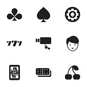 Set Of 9 Editable Game Icons.
