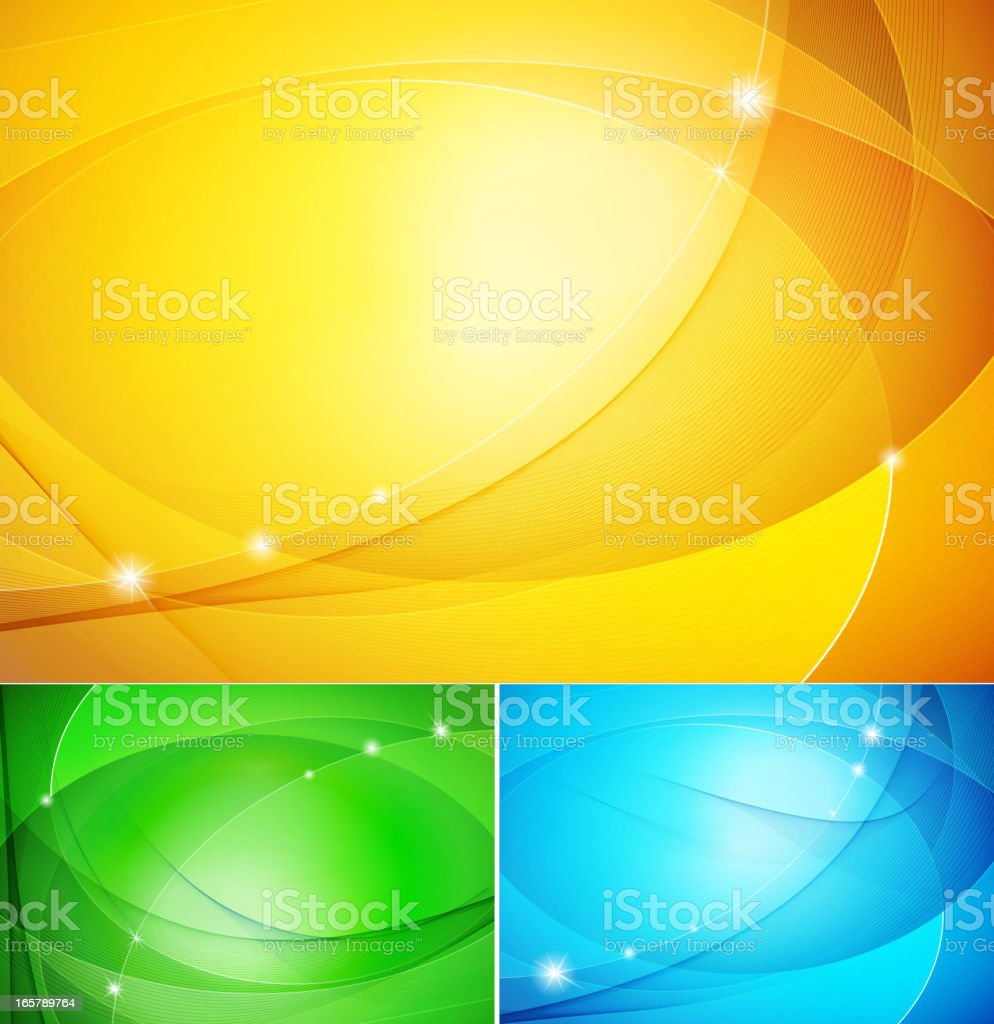 Set of abstract background royalty-free stock vector art