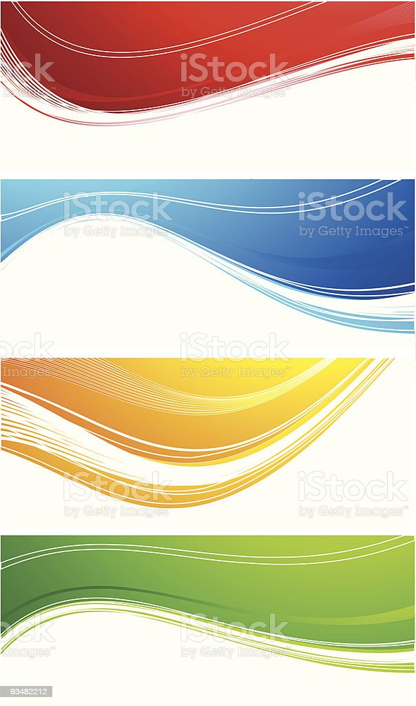 Set of abstract banners royalty-free stock vector art