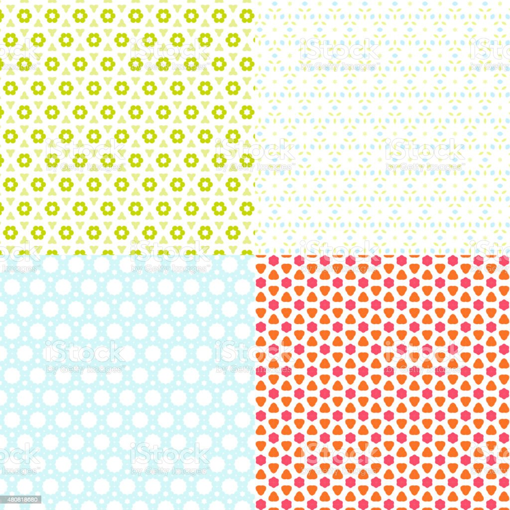 set of abstract color pattern background vector art illustration