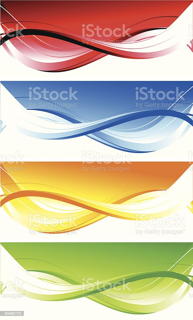 Set of abstract colourful banners royalty-free stock vector art