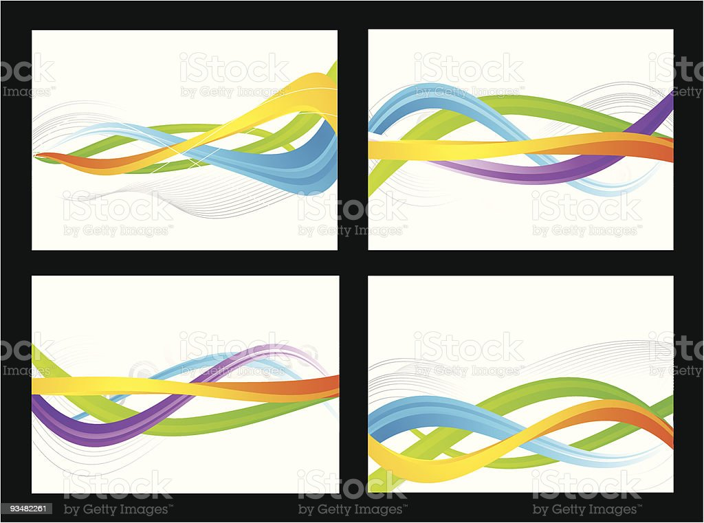 Set of abstract colourful cards royalty-free stock vector art