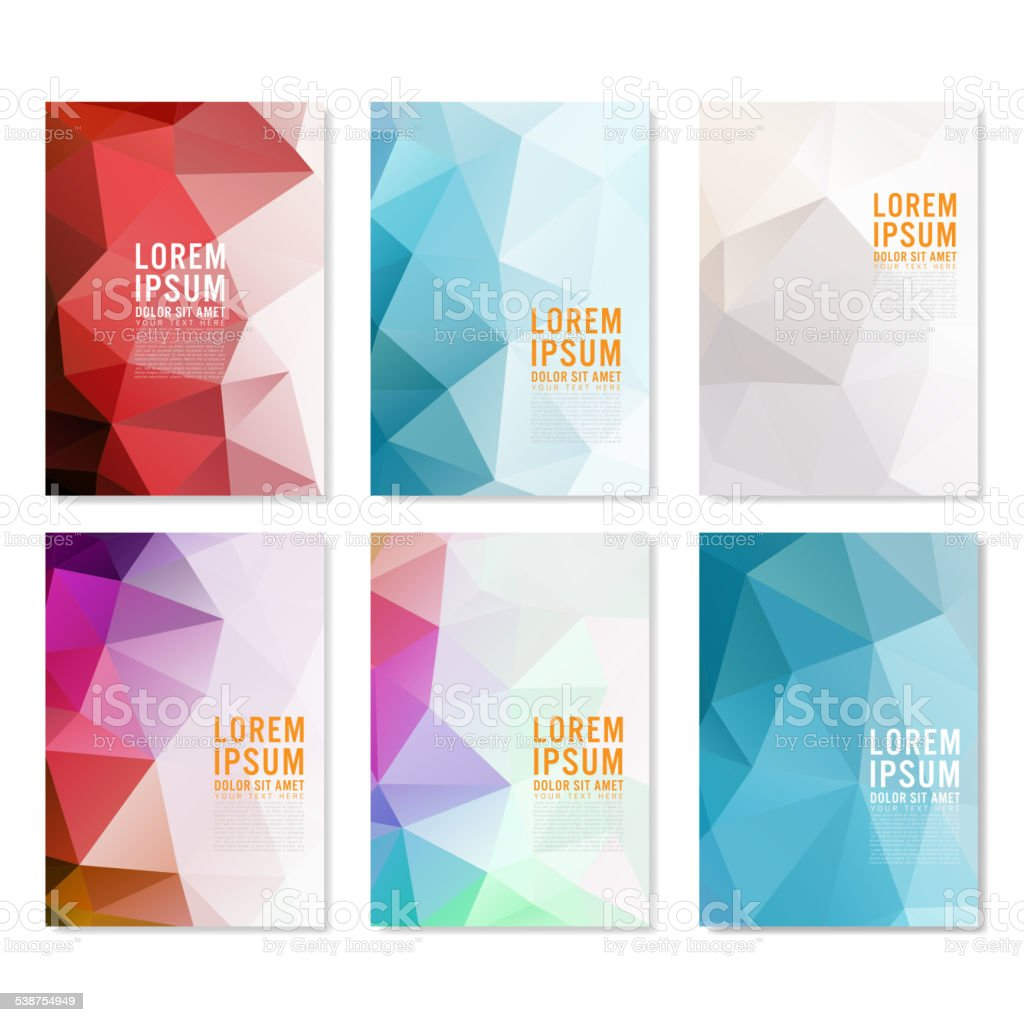 Set Of Abstract Flyer Template Geometric Modern Backgrounds Vector – Geometric Flyer Template