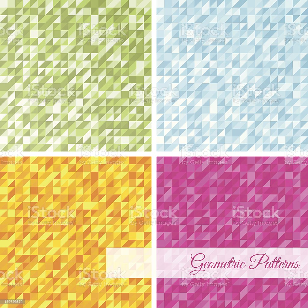 Set of abstract geometric patterns royalty-free stock vector art