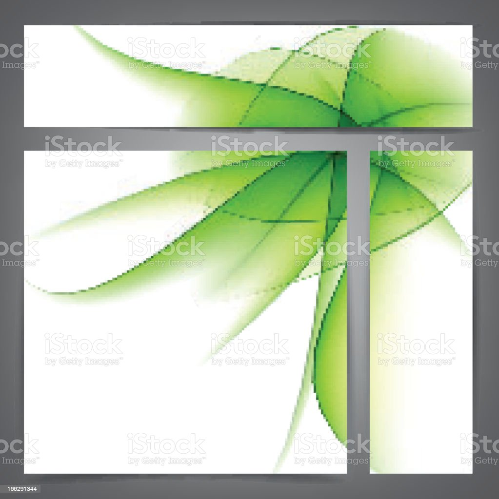 Set of abstract green banners. royalty-free stock vector art