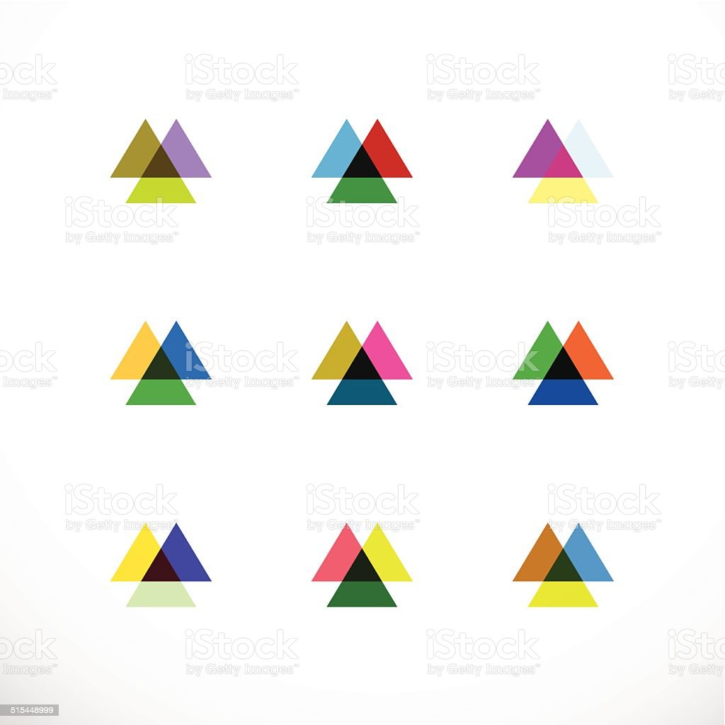 set of abstract triangle pattern icon for design vector art illustration