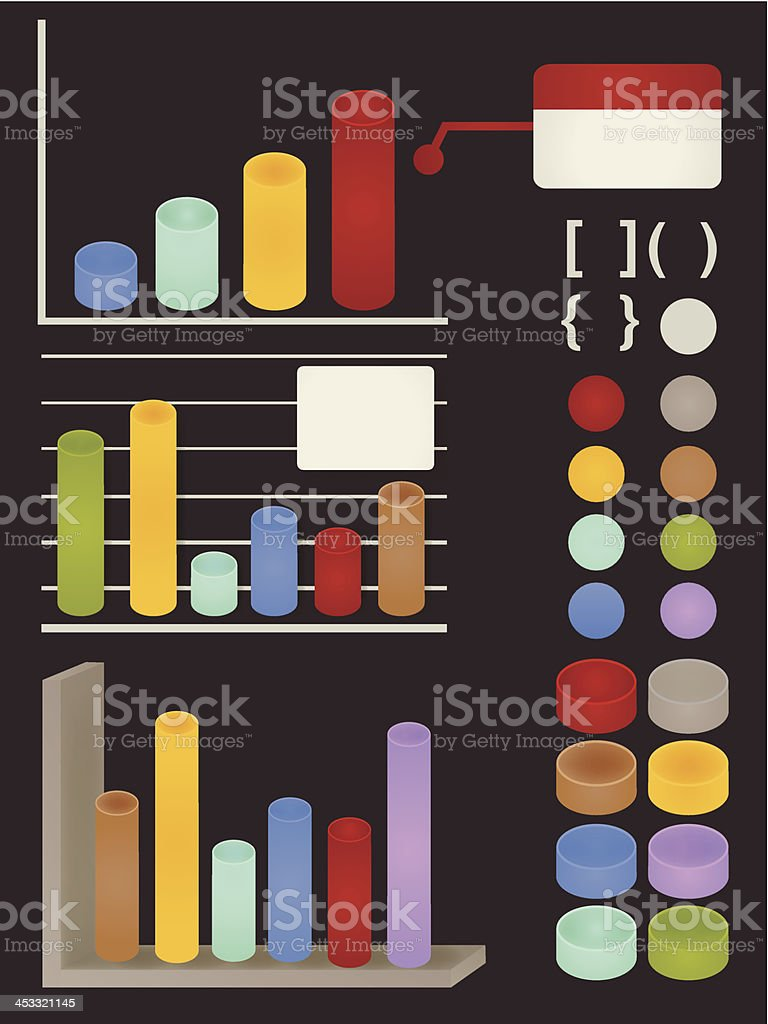 Set of adaptable elements info graphics - Vector file EPS10 royalty-free stock vector art