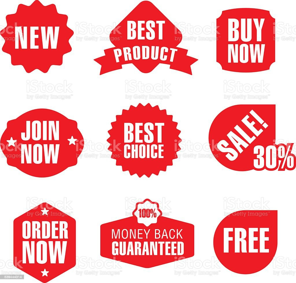 set of advertising and promotion banners vector art illustration