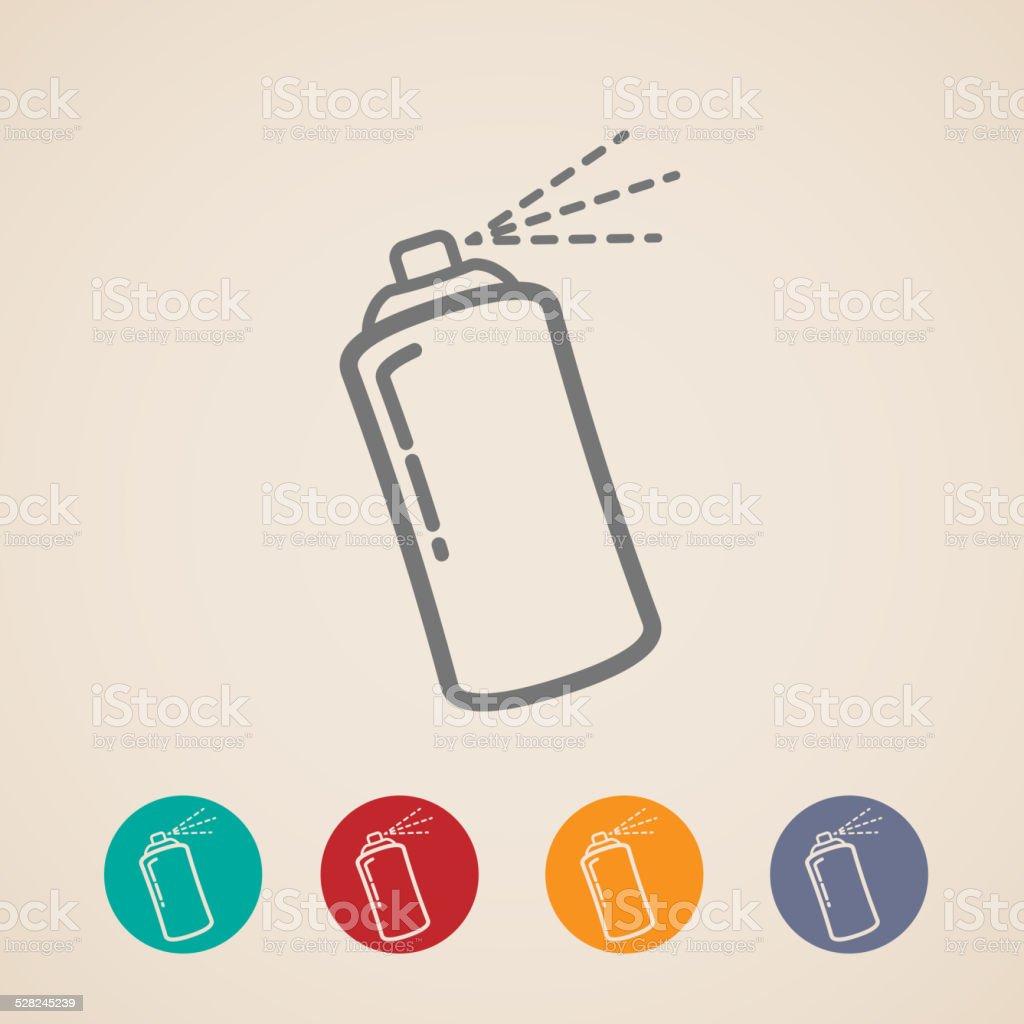 set of aerosol spray can icons vector art illustration