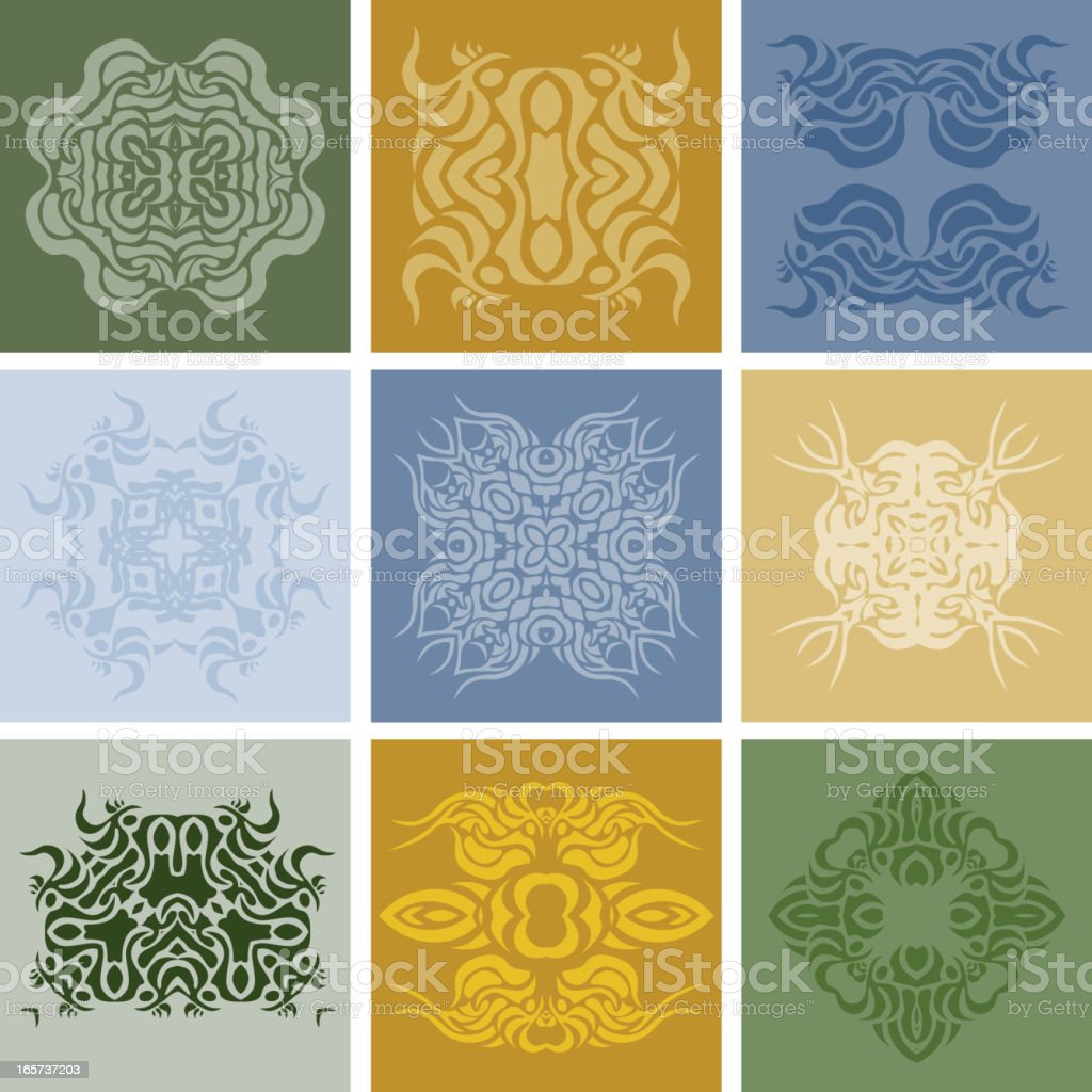 Set of ancient arabic elements royalty-free stock vector art