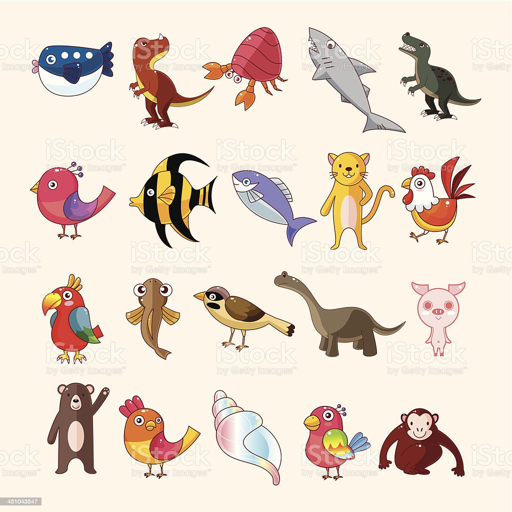 set of animal icons royalty-free stock vector art