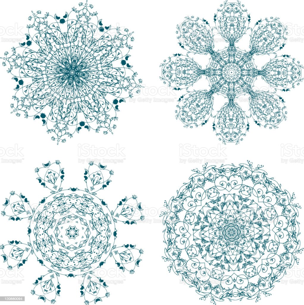 Set of arabesque ornament for your design royalty-free stock vector art