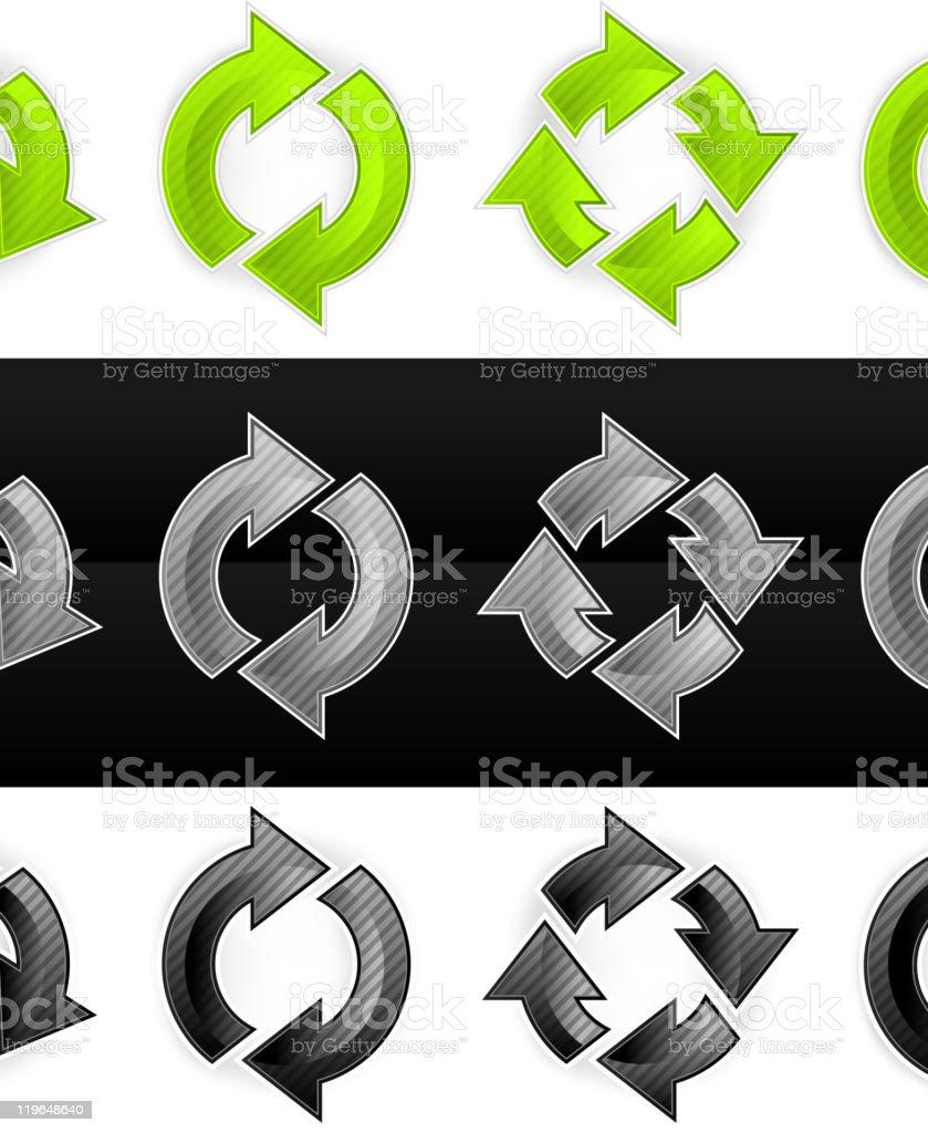 Set of arrows royalty-free stock vector art