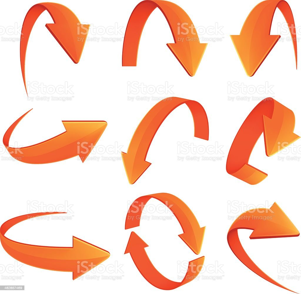 Set of Arrows vector art illustration
