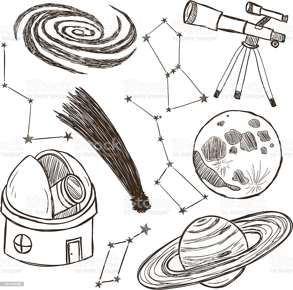 Set of astronomical objects royalty-free stock vector art