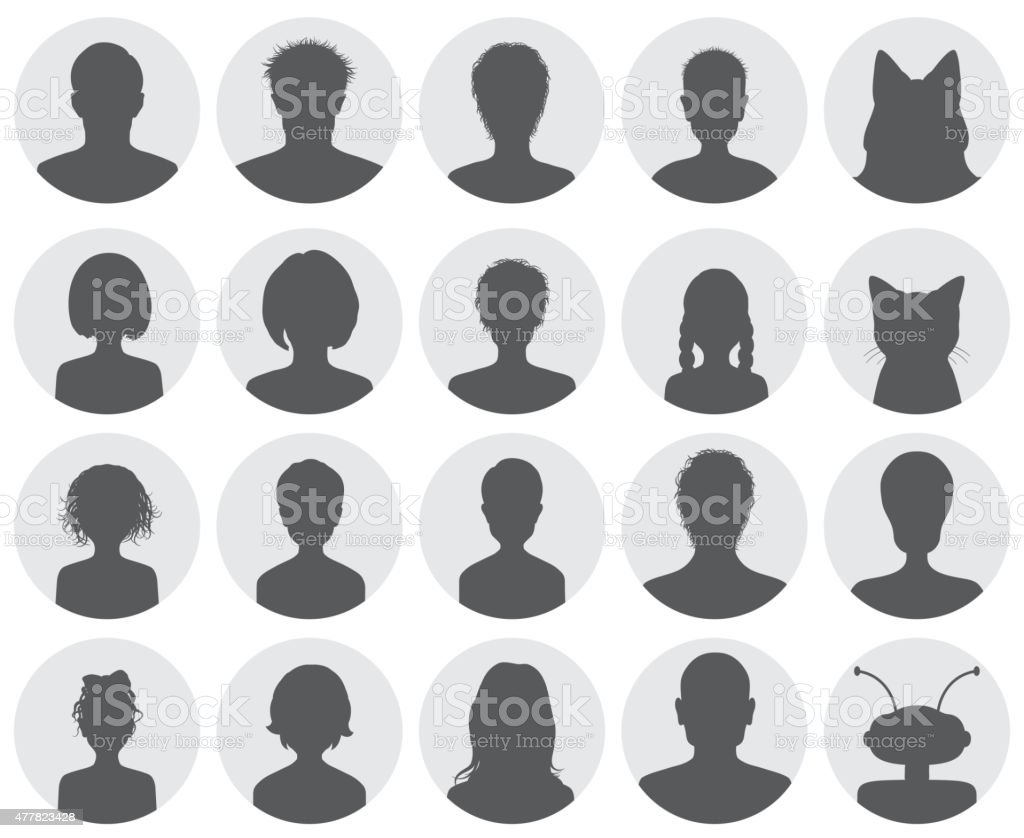 Set of avatars vector art illustration