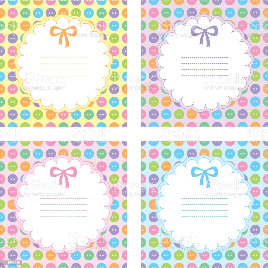 set of baby frames royalty-free stock vector art