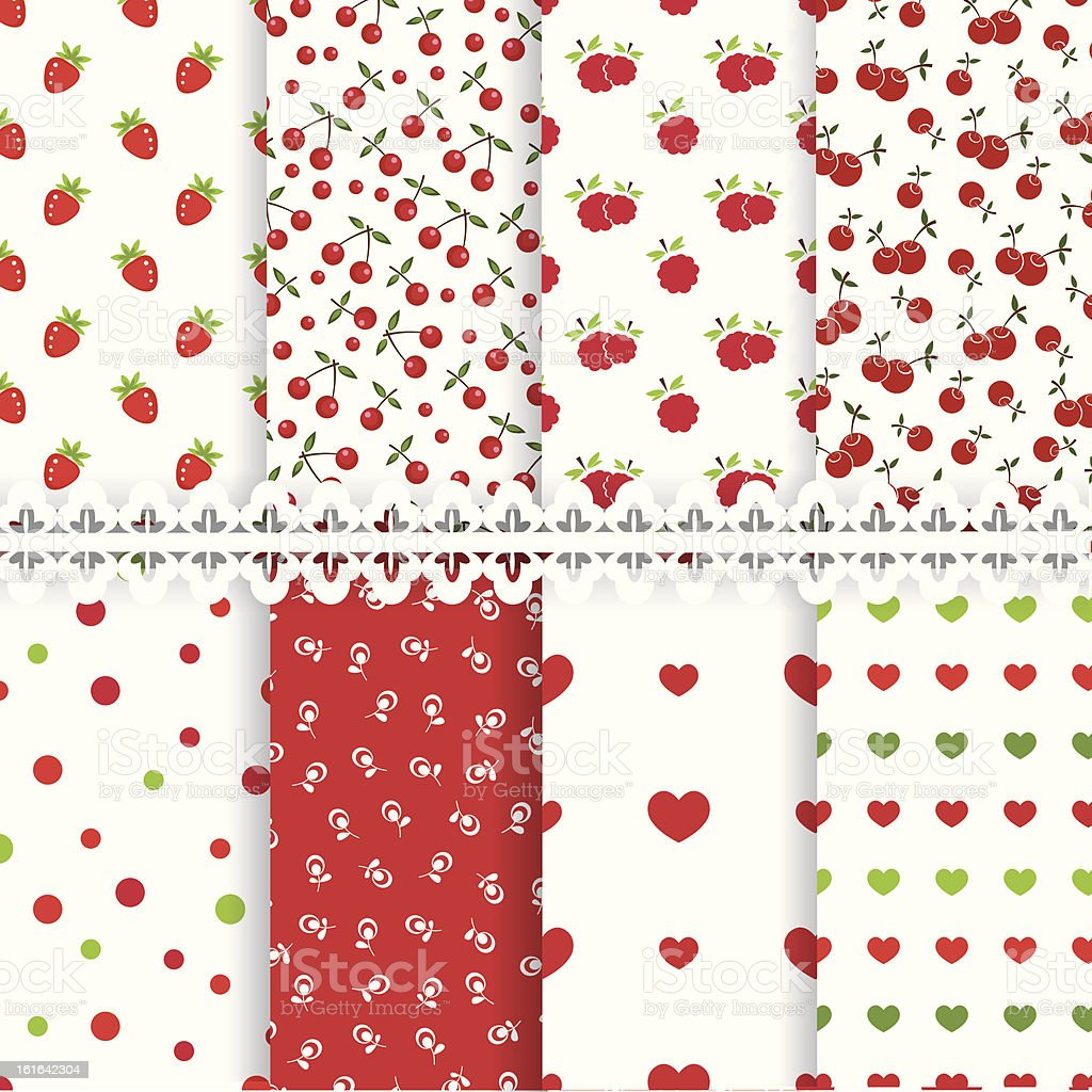 Set of baby seamless patterns royalty-free stock vector art