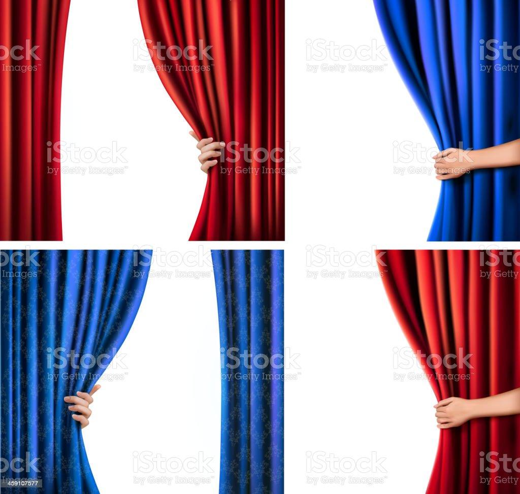 Set of backgrounds vector art illustration