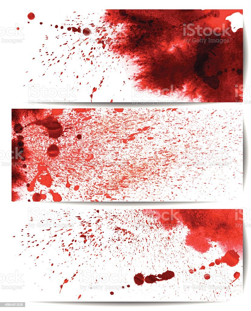Set of backgrounds with bloodstain vector art illustration