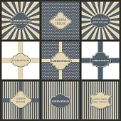 Set of backgrounds with frame for text, vector illustration.