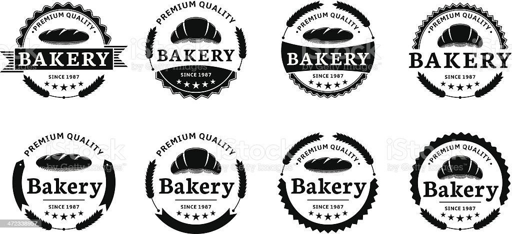 Set of bakery labels. royalty-free stock vector art