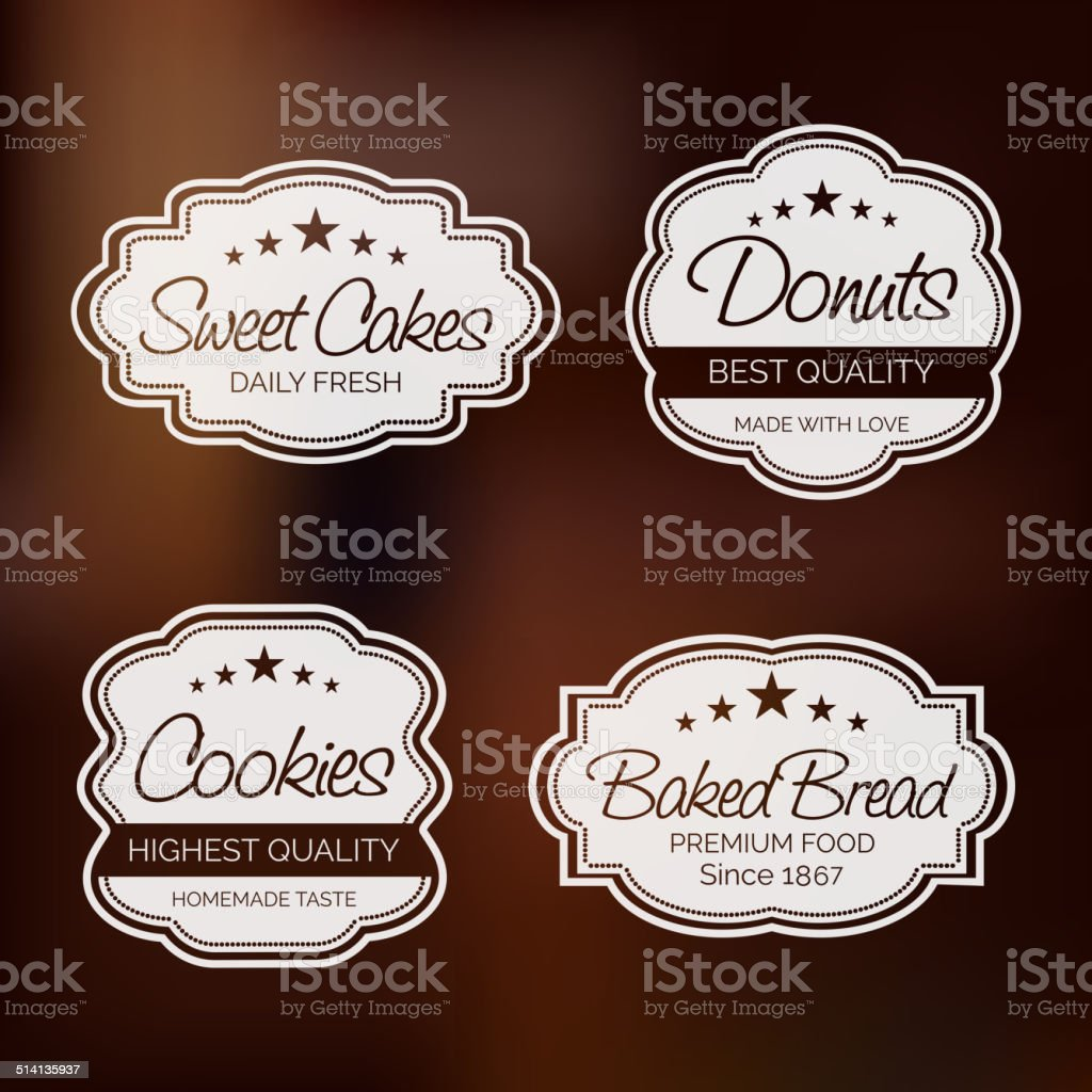 Set of bakery logo labels design. vector art illustration