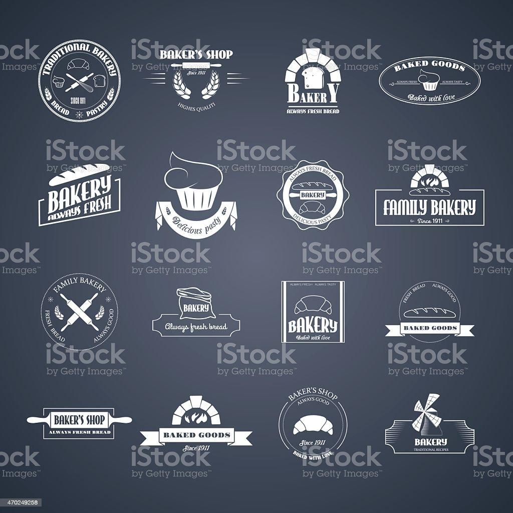 Set of bakery logos. vector art illustration
