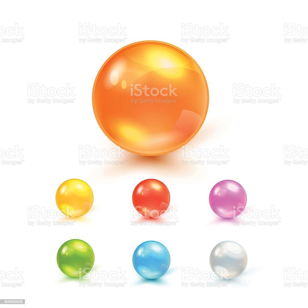 Set Of Balls vector art illustration