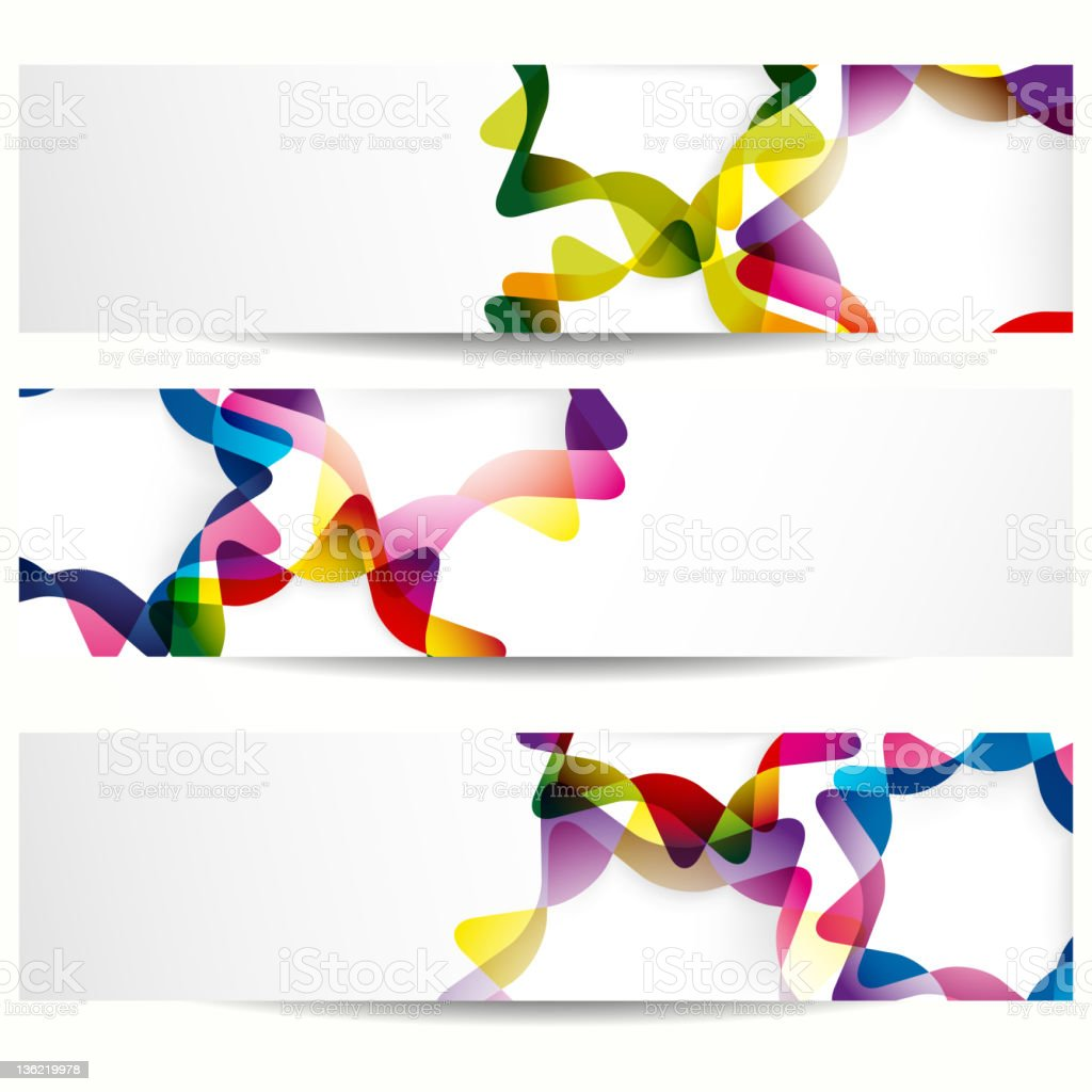 Set of banners royalty-free stock vector art