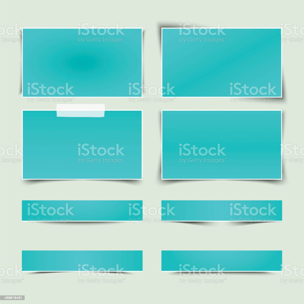 Set of banners with different shadows. vector art illustration