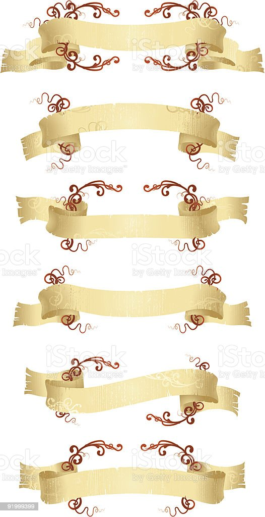 set of banners with ornament royalty-free stock vector art