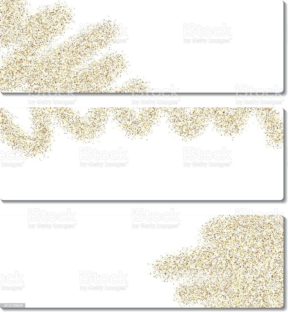 Set of banners with sand. vector art illustration
