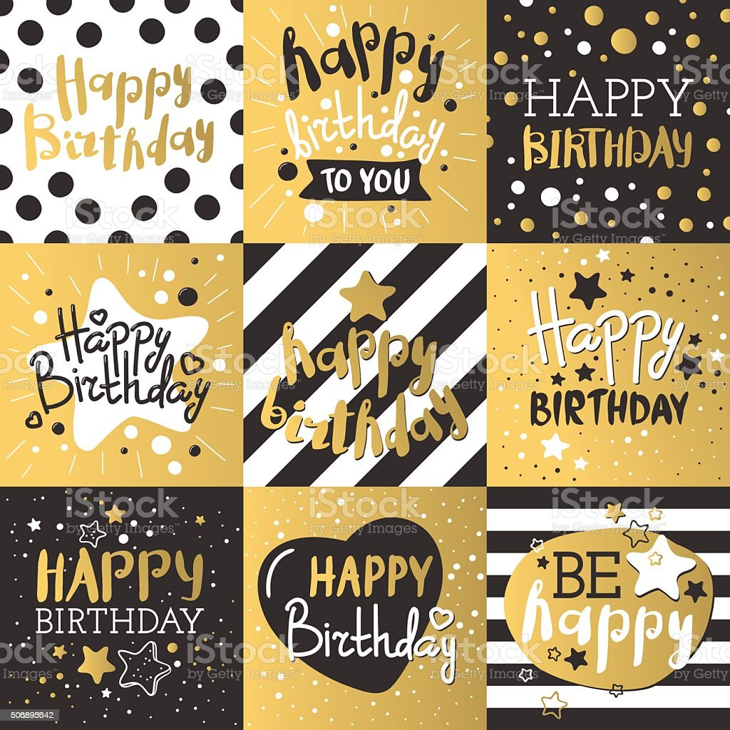 Set of beautiful birthday invitation cards decorated with colorful balloons vector art illustration