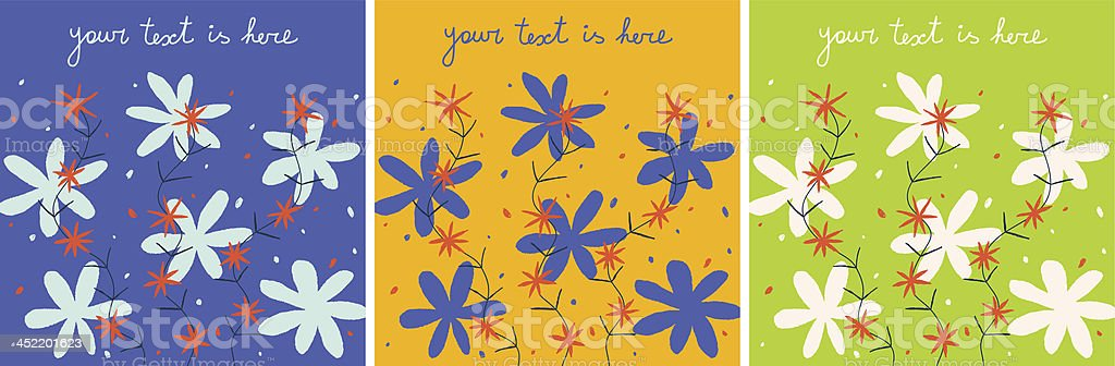 Set of beautiful floral backgrounds royalty-free stock vector art