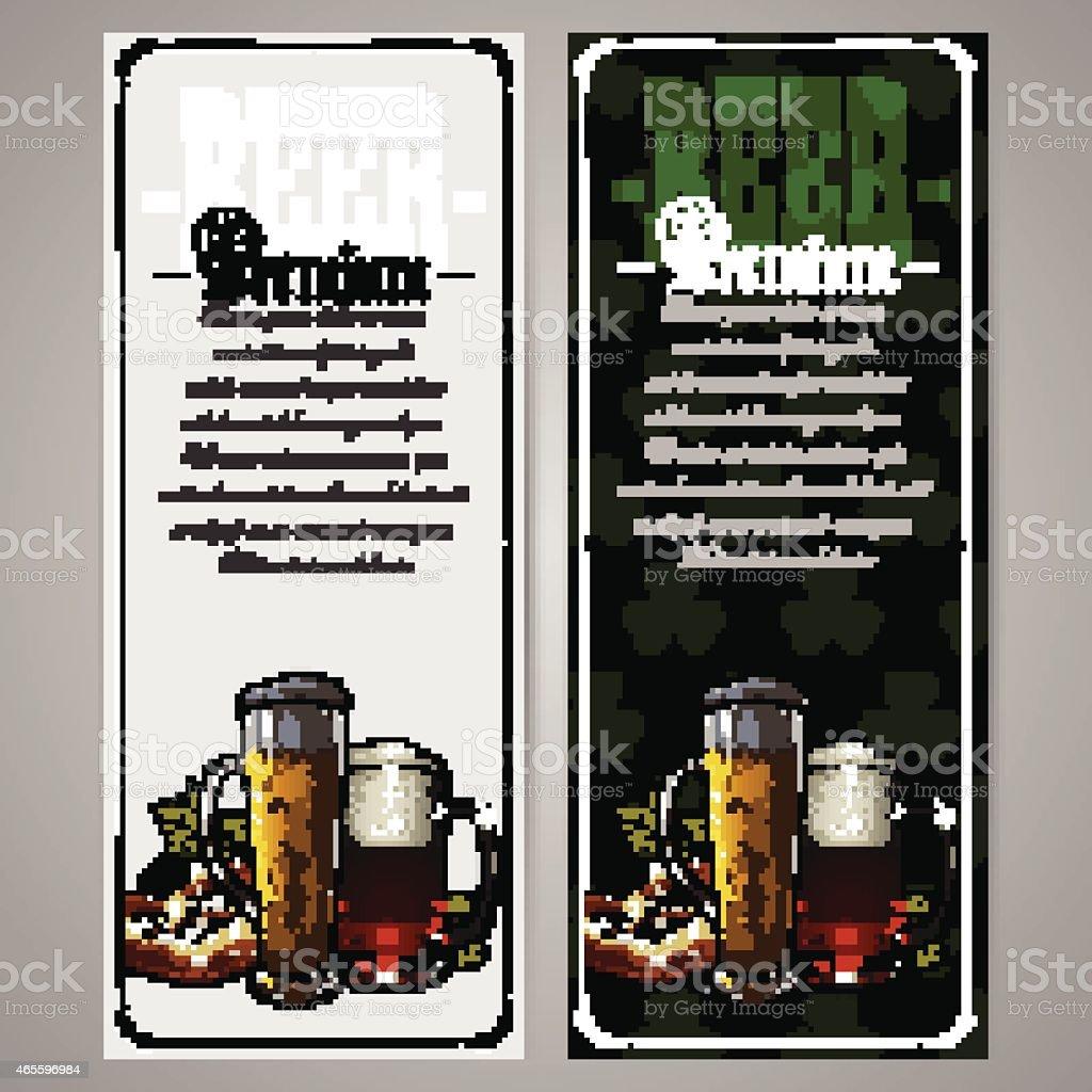 set of beer labels vector art illustration