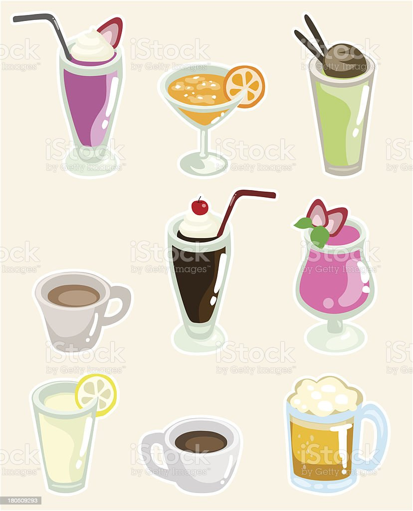 Set of Beverages royalty-free stock vector art