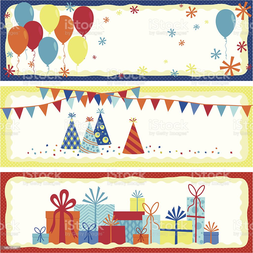Set of birthday banners royalty-free stock vector art