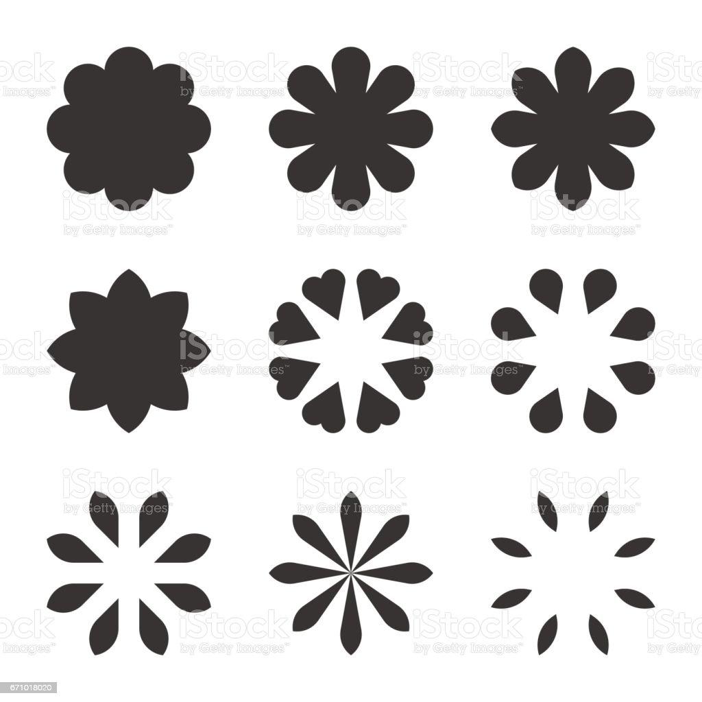 Black Flower Symbols