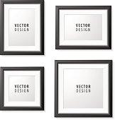 Set of Black Frame for Presentations.