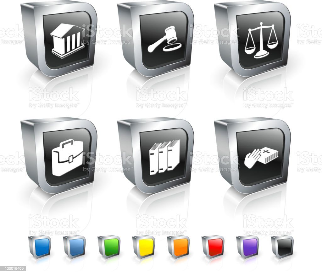 set of black & white legal icons in with other color options royalty-free stock vector art